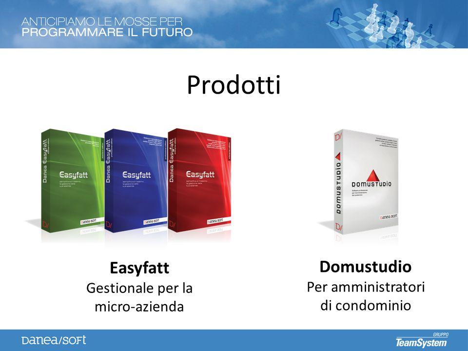 Prodotti Easyfatt Gestionale per la micro-azienda Domustudio Per amministratori di condominio
