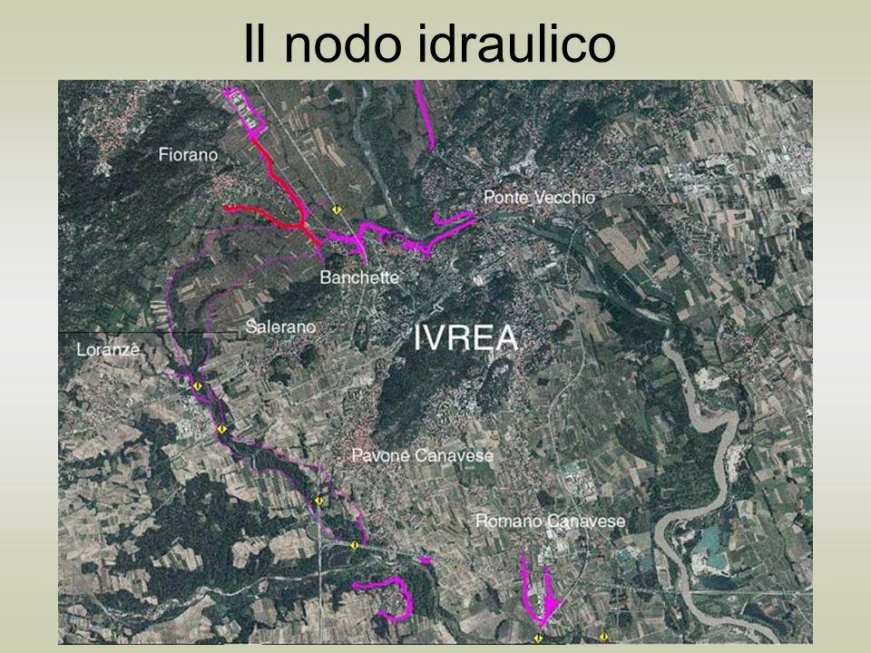 Il nodo idraulico Interventi di difesa idraulica del territorio Tabella riassuntiva degli interventi argine di Pavone borgata Marchetti argine di Banchette Est argine di Banchette-Salerano argine di Pavone, Fraz.