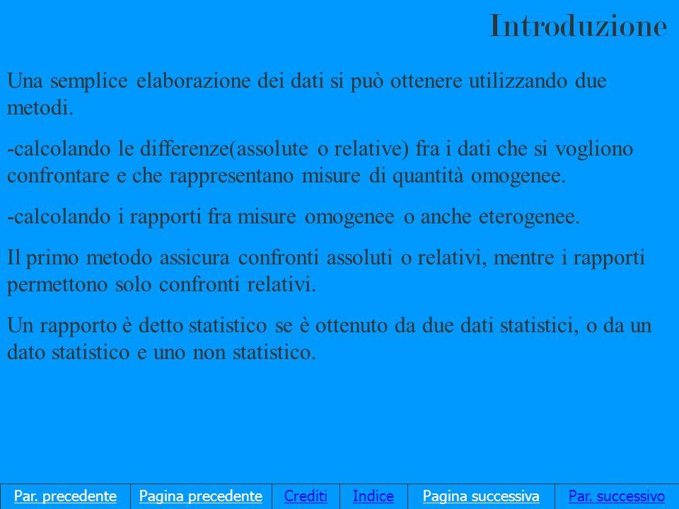 Una semplice elaborazione dei dati si può ottenere utilizzando due metodi.