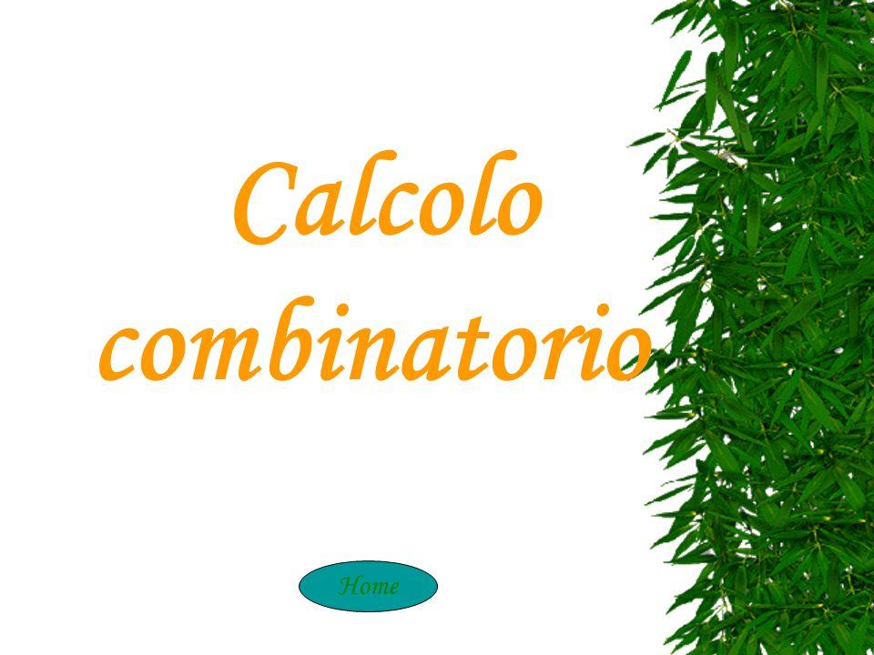 Calcolo combinatorio Home Calcolo Combinatori