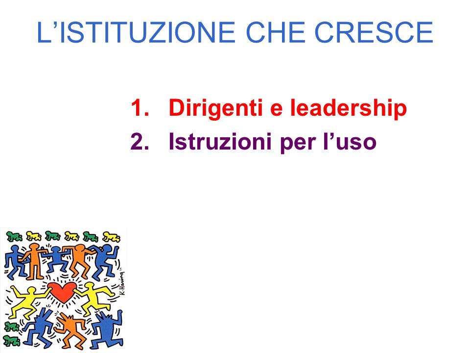 LISTITUZIONE CHE CRESCE 1.Dirigenti e leadership 2.Istruzioni per luso