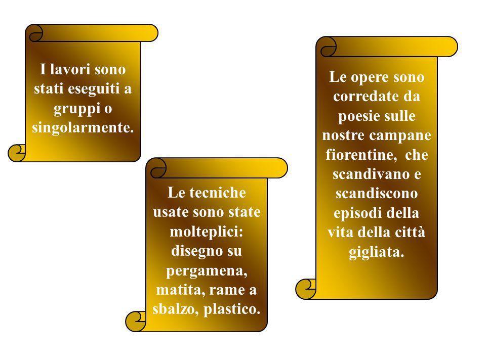 QUINTE lavori realizzati dalle classi V A-V B in occasione del concorso indetto dal Comune di Firenze: