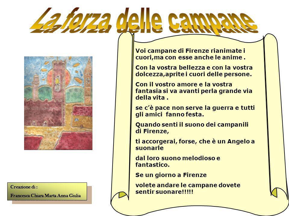 Firenze : di bei campanili è piena con belle decorazioni sulle scale e sul muro. Se voi volete visitarle sono a vostra disposizione dal Duomo al Campa