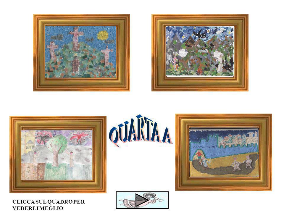 I disegni, fatti dai bambini delle classi quarte, sono stati realizzati con varie tecniche: I Mosaico I Cartapesta I lana I tempera I acquerello