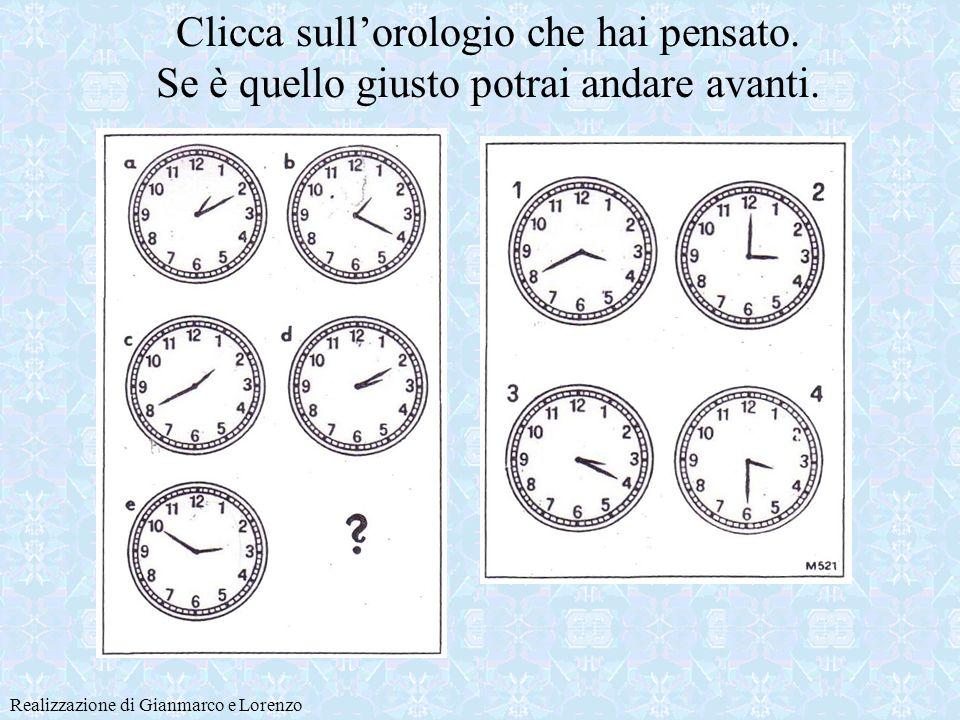 L orologio mancante è tra questi Realizzazione di Gianmarco e Lorenzo Ecco un aiutino… ricontrolla