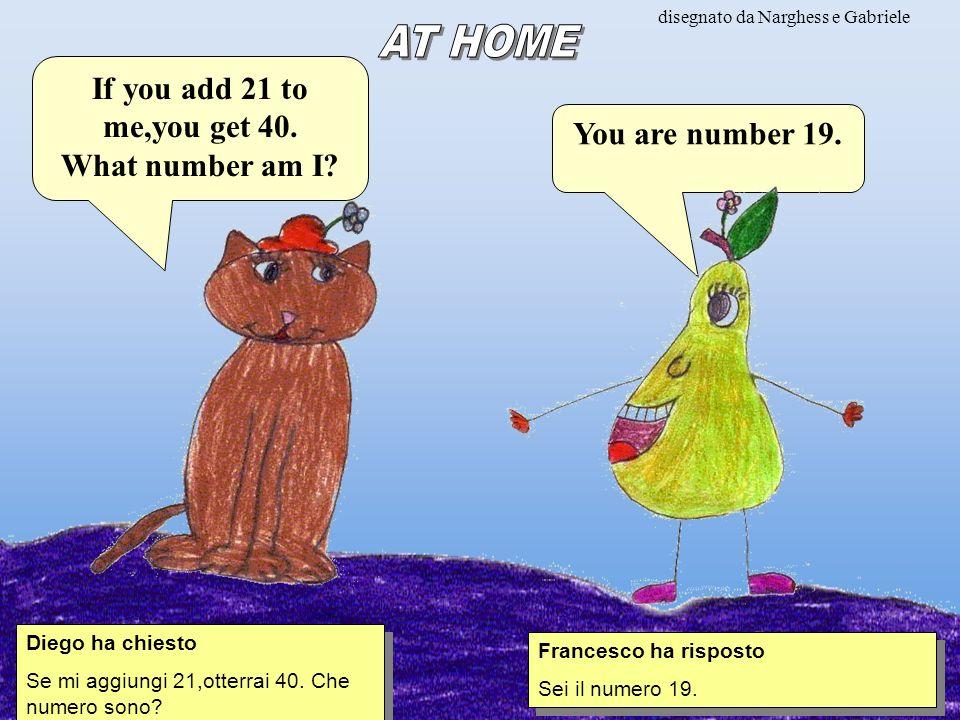 disegnato da Narghess e Gabriele Diego ha chiesto Se mi aggiungi 21,otterrai 40.
