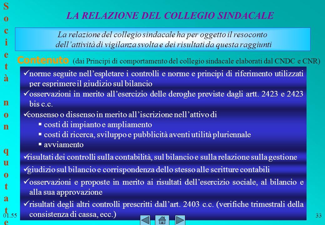 ITC SIRIO Bitonto Prof. Paolo Intini 01.5633 LA RELAZIONE DEL COLLEGIO SINDACALE Contenuto (dai Principi di comportamento del collegio sindacale elabo