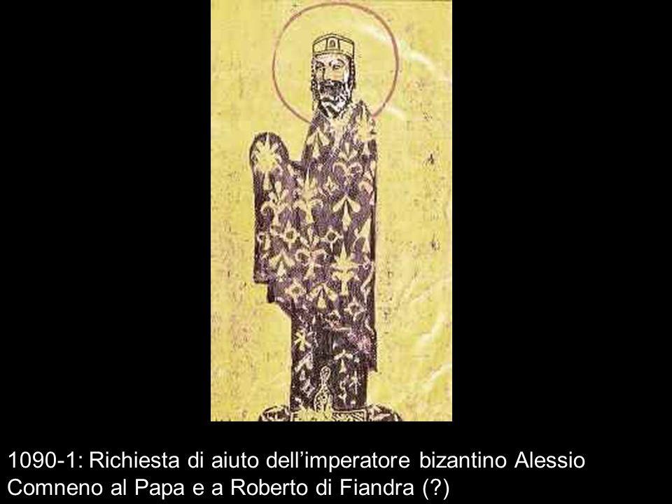 1090-1: Richiesta di aiuto dellimperatore bizantino Alessio Comneno al Papa e a Roberto di Fiandra (?)