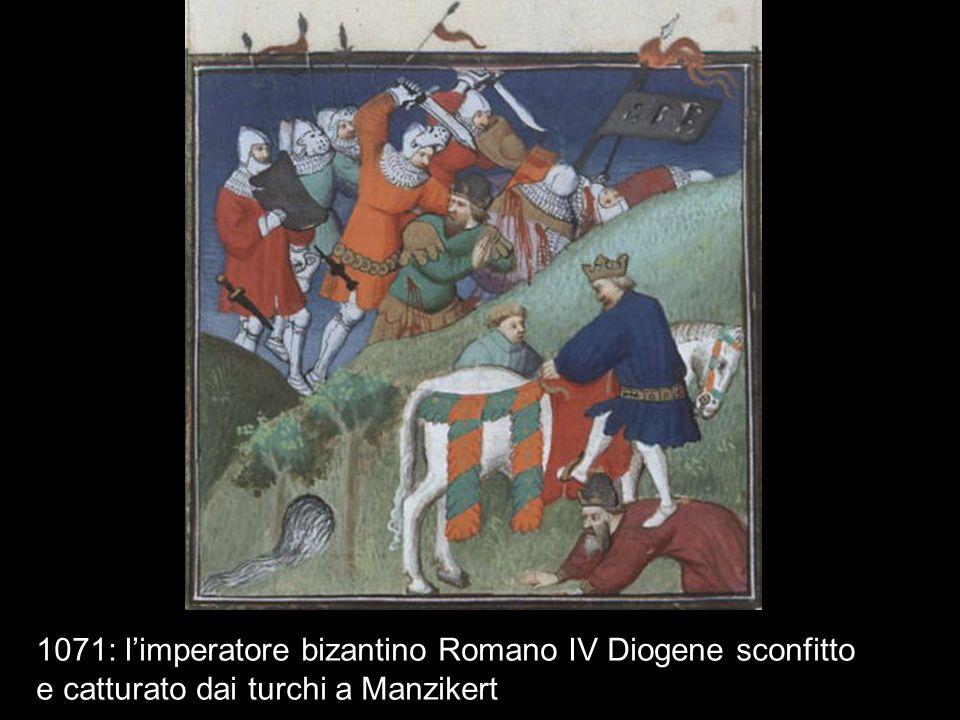 1071: limperatore bizantino Romano IV Diogene sconfitto e catturato dai turchi a Manzikert