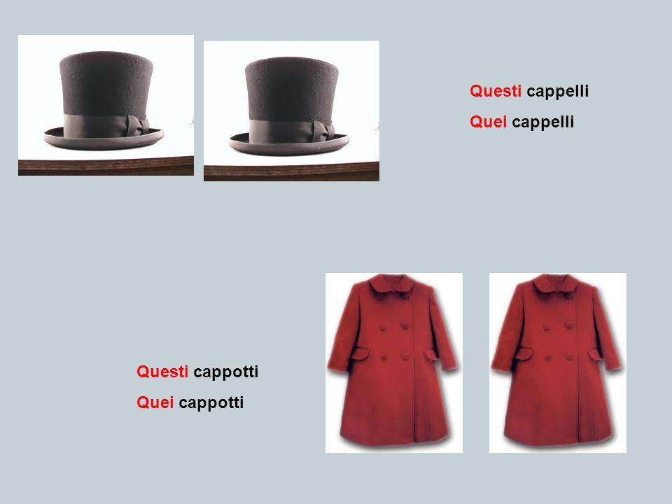 Questi cappelli Quei cappelli Questi cappotti Quei cappotti