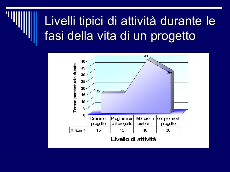 Parametri del progetto Durante la vita di un progetto, la gestione si concentra su tre parametri di base: La qualità La qualità Il costo Il costo Il tempo Il tempo