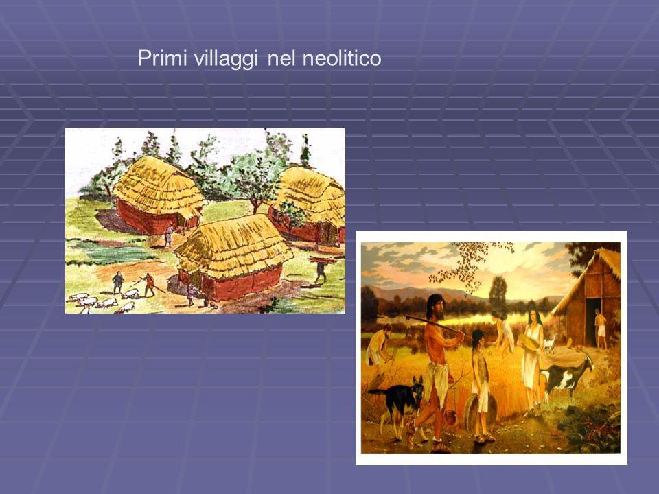 Primi villaggi nel neolitico