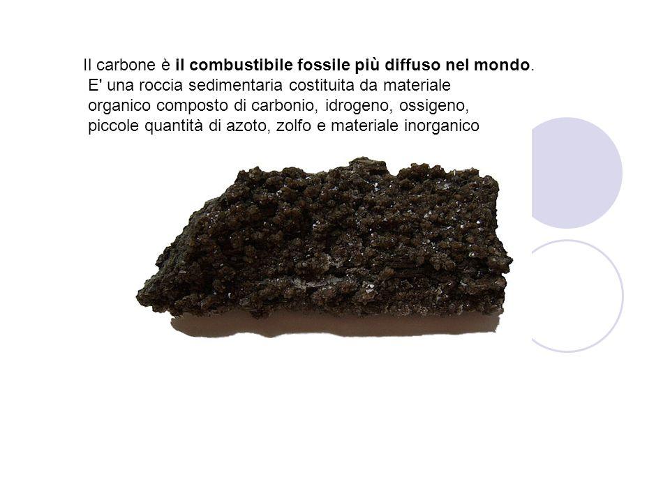 Il carbone è il combustibile fossile più diffuso nel mondo. E' una roccia sedimentaria costituita da materiale organico composto di carbonio, idrogeno