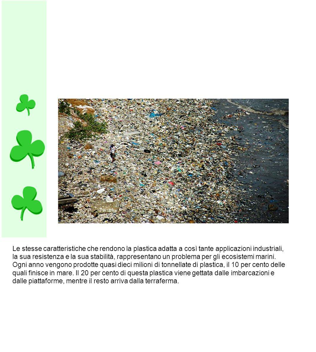 Circa 4/5 del rifiuto in mare arriva da terra sospinto dal vento o trascinato da scarichi d acqua e fiumi.