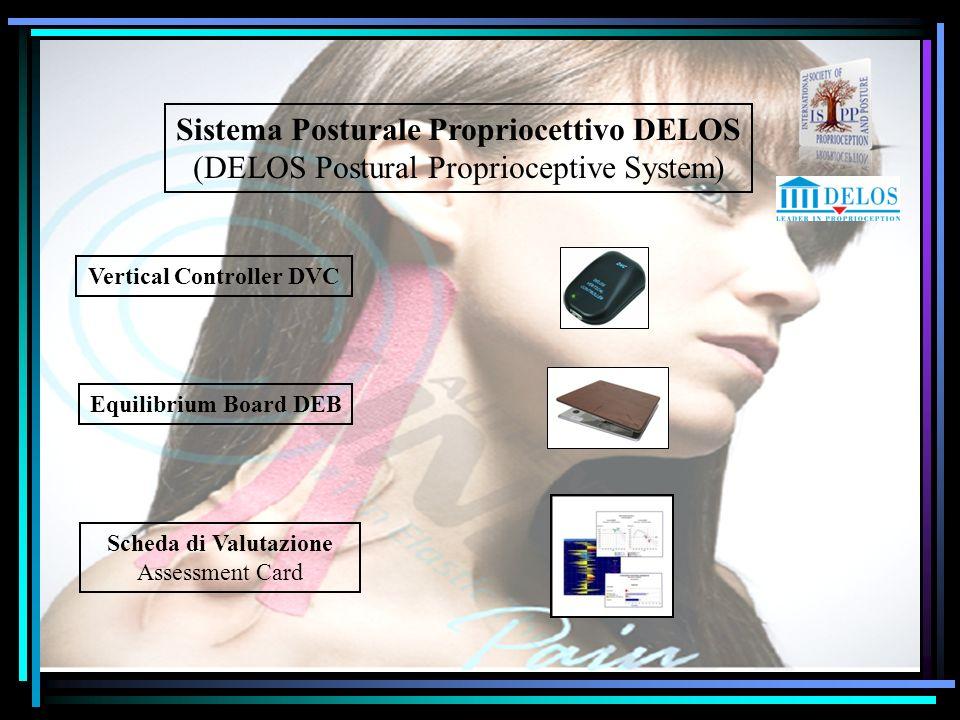 Sistema Posturale Propriocettivo DELOS (DELOS Postural Proprioceptive System) Vertical Controller DVC Equilibrium Board DEB Scheda di Valutazione Asse