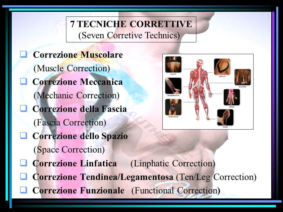 7 TECNICHE CORRETTIVE (Seven Corretive Technics) Correzione Muscolare (Muscle Correction) Correzione Meccanica (Mechanic Correction) Correzione della