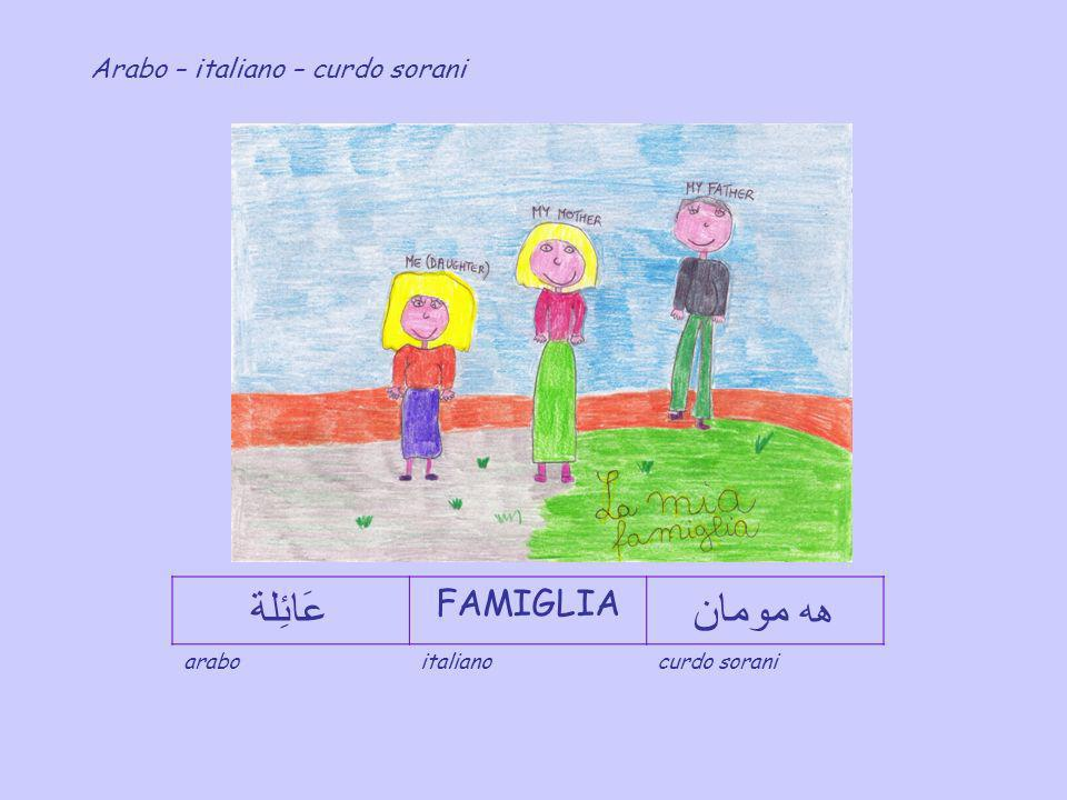 La Famiglia Arabo italiano curdo sorani Scuola in ospedale dellInfanzia e Primaria - Policlinico Umberto I di Roma - IC Via Tiburtina antica, 25