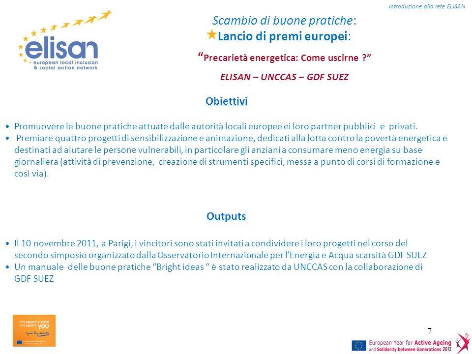 7 Scambio di buone pratiche: Lancio di premi europei: Precarietà energetica: Come uscirne .