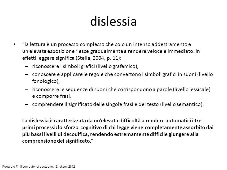 Compensare la difficoltà di lettura con la sintesi vocale la sintesi è uno strumento di lettura non di ascolto; […]le emozioni, le impressioni [sono a carico di chi] legge-ascolta, come avviene con un testo scritto; arrivare a tale livello di abilità compensativa è uno degli obiettivi per gli alunni con dsa, anche nella prospettiva della vita adulta; http://ebookbrowse.com/simoneschi-jesi-dsa-pdf-d371305781