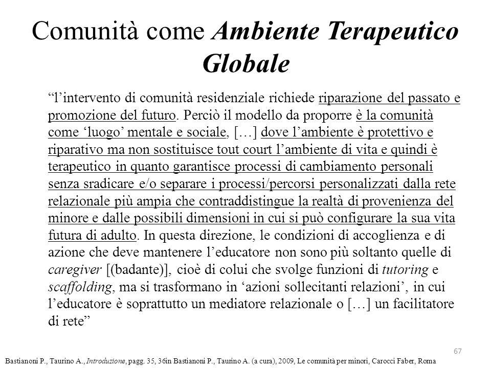 Comunità come Ambiente Terapeutico Globale lintervento di comunità residenziale richiede riparazione del passato e promozione del futuro. Perciò il mo