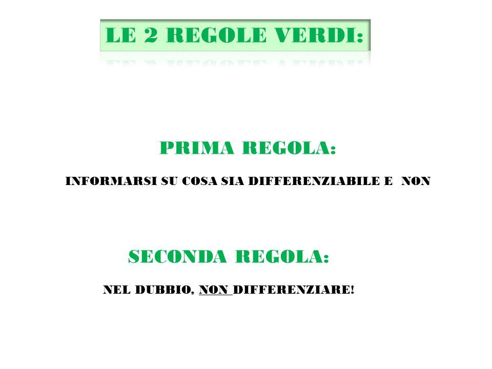 PRIMA REGOLA: INFORMARSI SU COSA SIA DIFFERENZIABILE E NON SECONDA REGOLA: NEL DUBBIO, NON DIFFERENZIARE!