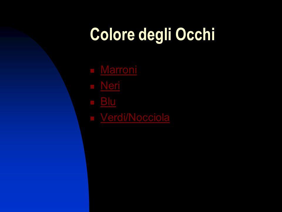Colore degli Occhi Marroni Neri Blu Verdi/Nocciola
