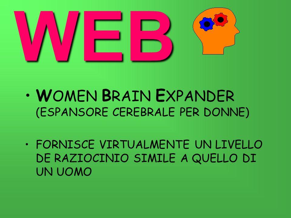 WEB W OMEN B RAIN E XPANDER (ESPANSORE CEREBRALE PER DONNE) FORNISCE VIRTUALMENTE UN LIVELLO DE RAZIOCINIO SIMILE A QUELLO DI UN UOMO