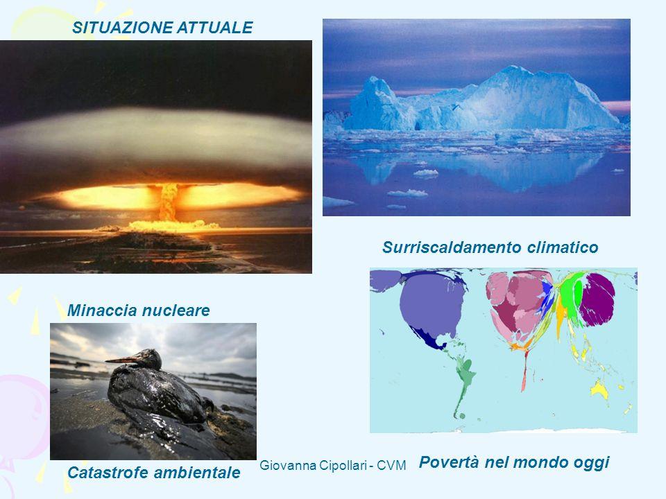 Giovanna Cipollari - CVM Minaccia nucleare Catastrofe ambientale Surriscaldamento climatico Povertà nel mondo oggi SITUAZIONE ATTUALE