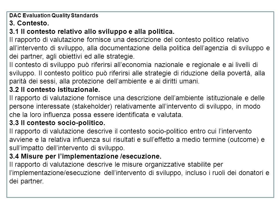 DAC Evaluation Quality Standards 3.Contesto.