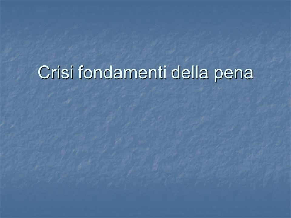 Crisi fondamenti della pena