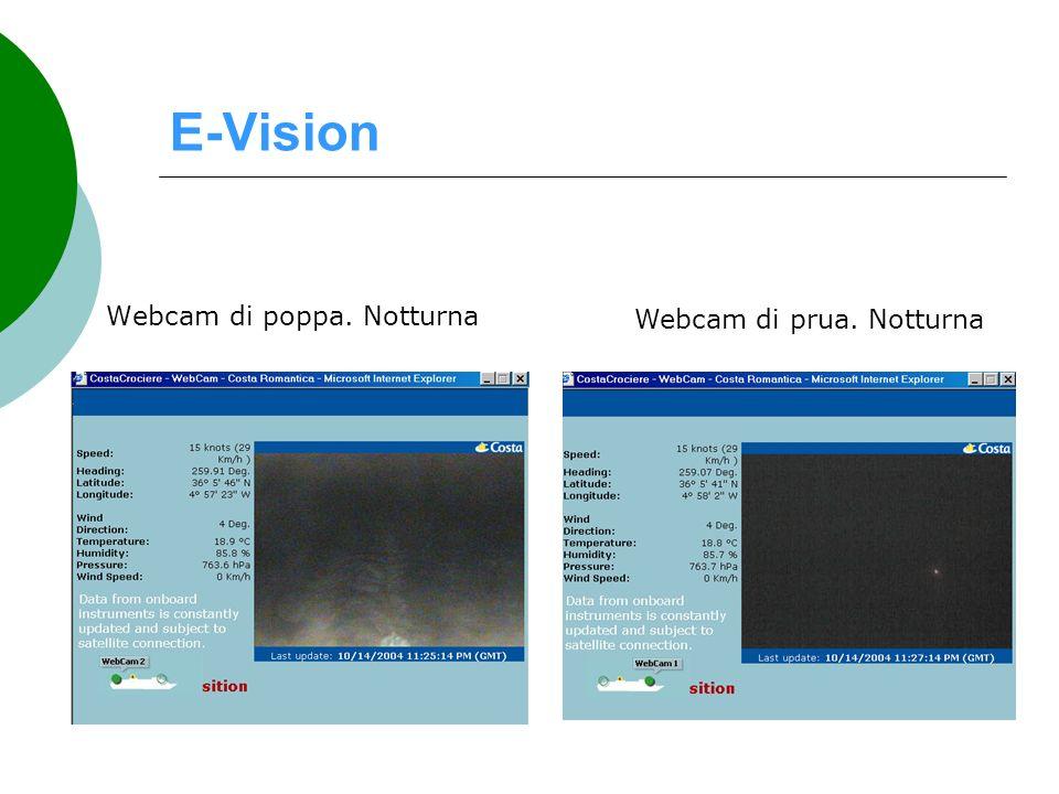 E-Vision Webcam di poppa. Notturna Webcam di prua. Notturna