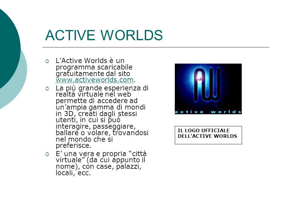 ACTIVE WORLDS LActive Worlds è un programma scaricabile gratuitamente dal sito www.activeworlds.com.