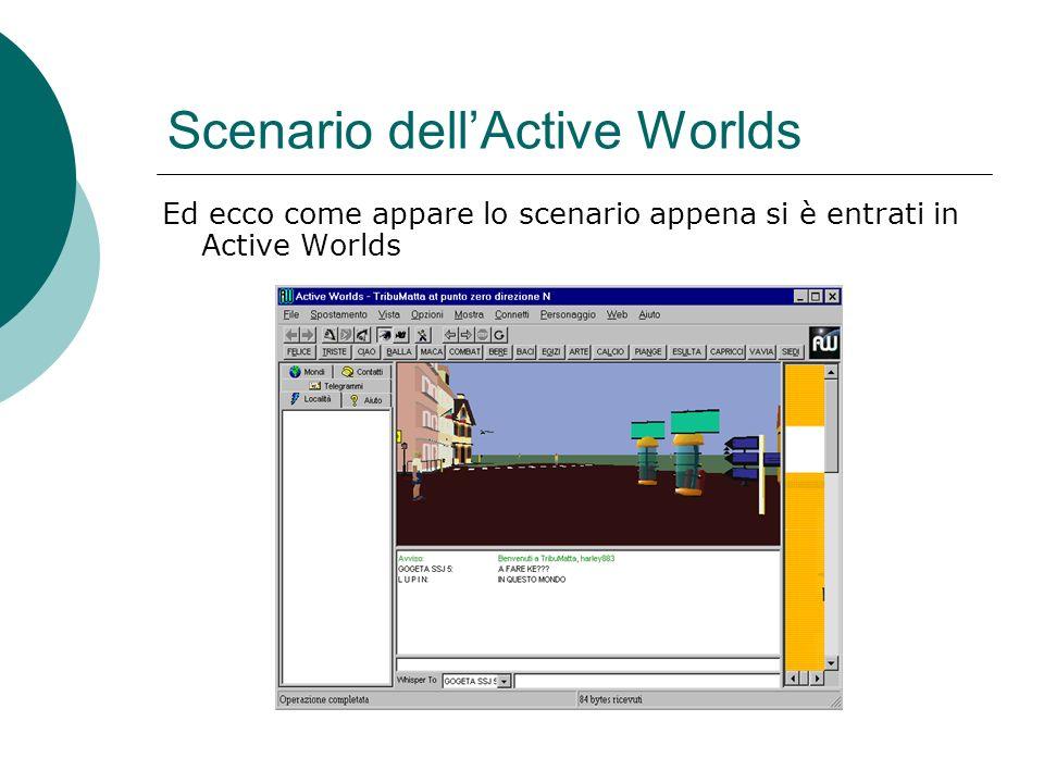 Scenario dellActive Worlds Ed ecco come appare lo scenario appena si è entrati in Active Worlds