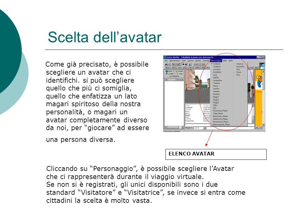 Scelta dellavatar Come già precisato, è possibile scegliere un avatar che ci identifichi.