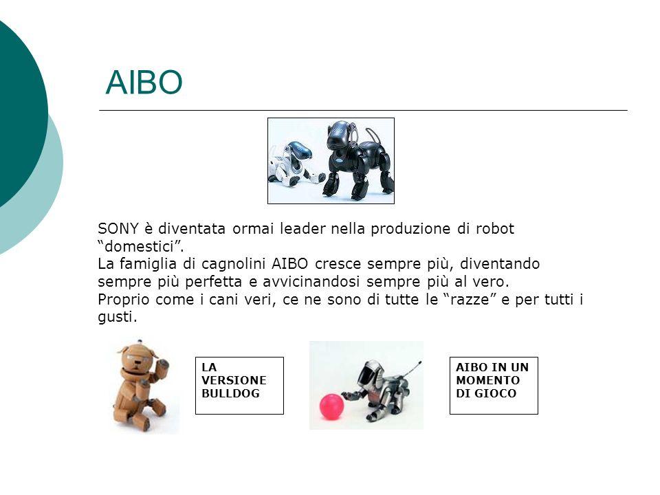 AIBO SONY è diventata ormai leader nella produzione di robot domestici.