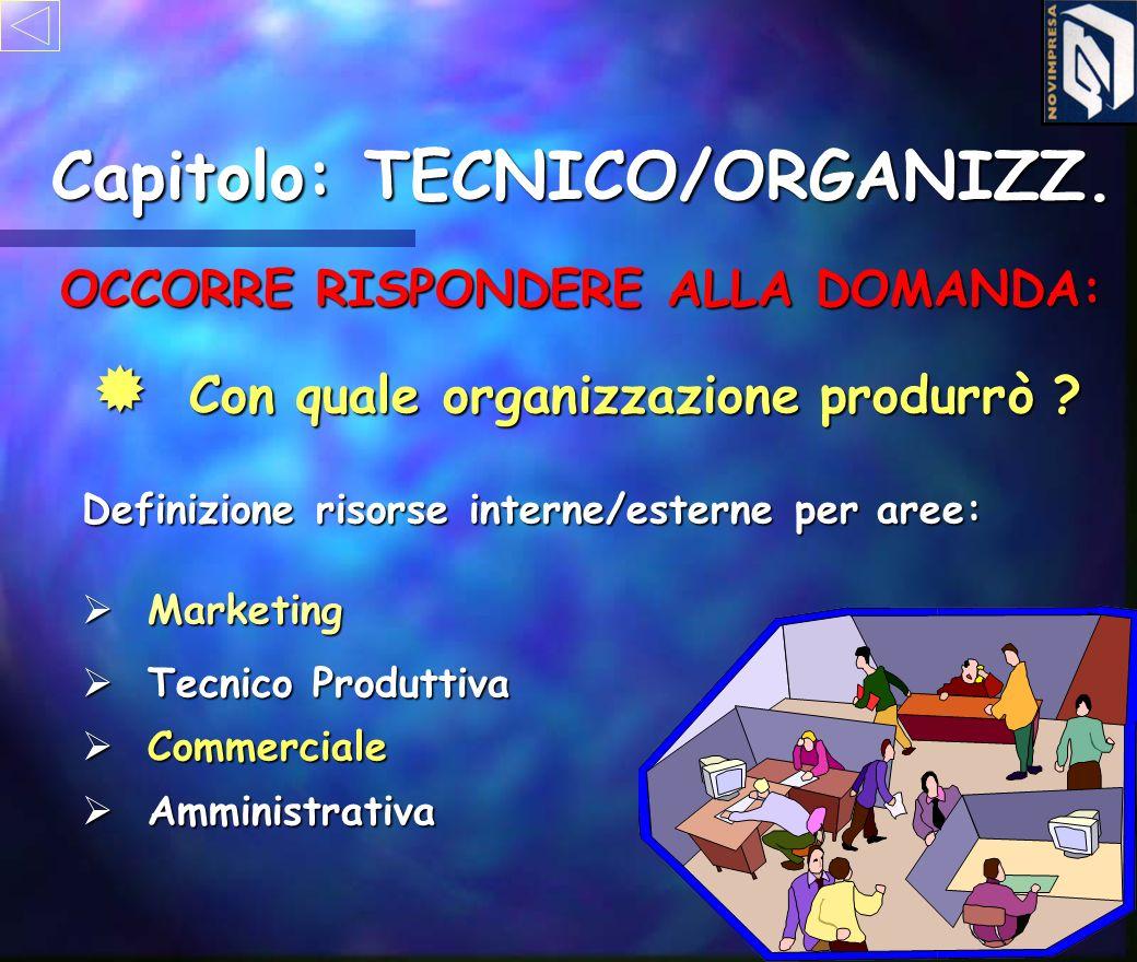 Capitolo: TECNICO/ORGANIZZ. ò ò Materie prime ò ò Materiale aus. e di consumo ò ò Sottoassiemi e semilavorati ò ò Componenti ò ò Magazzino