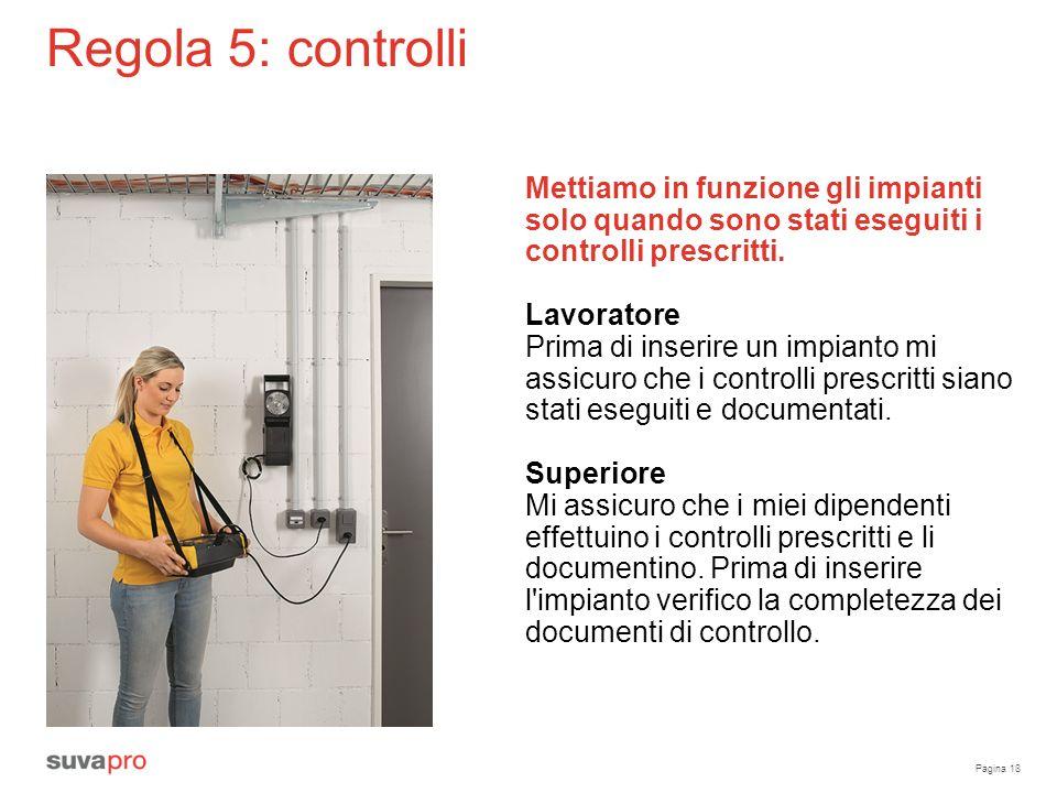 Pagina 18 Regola 5: controlli Mettiamo in funzione gli impianti solo quando sono stati eseguiti i controlli prescritti.