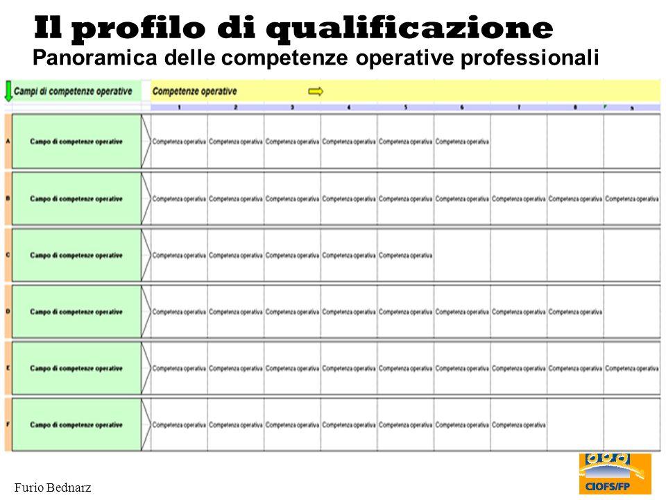 Furio Bednarz Il profilo di qualificazione Panoramica delle competenze operative professionali