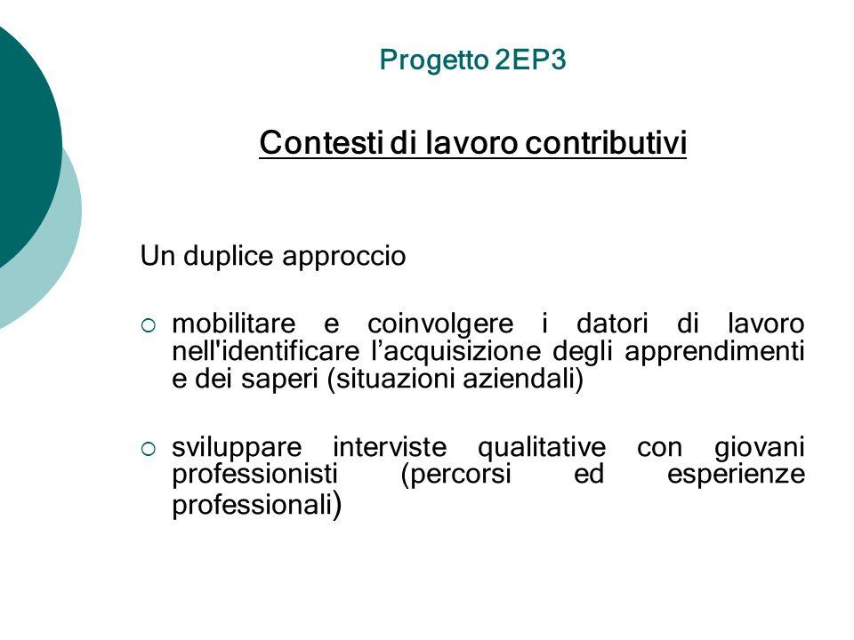 Un duplice approccio mobilitare e coinvolgere i datori di lavoro nell'identificare lacquisizione degli apprendimenti e dei saperi (situazioni aziendal
