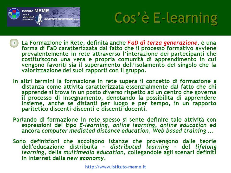 http://www.istituto-meme.it Caratteristiche - 1 In sintesi presentiamo le principali caratteristiche funzionali.