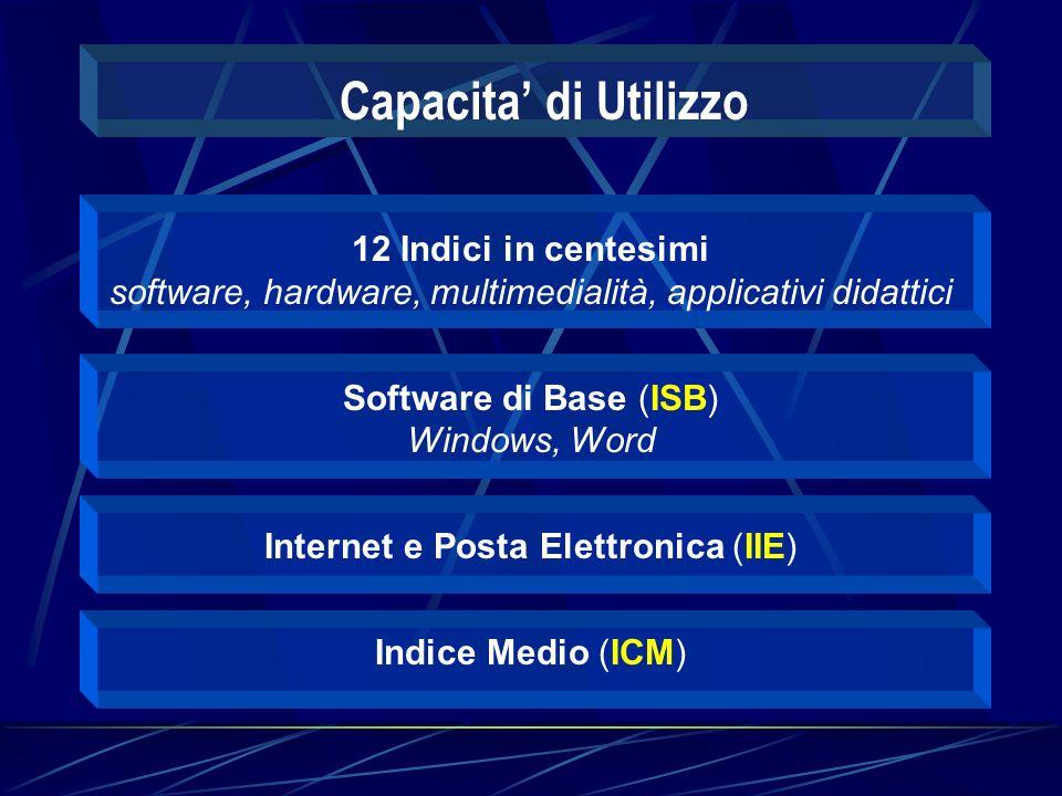 Attribuzione di Rilevanza ai fini Didattici dell utilizzo delle Tecnologie Informatiche Generica (IRG) una valutazione di massima Specifica (IRS) funzioni ben definite Atteggiamento