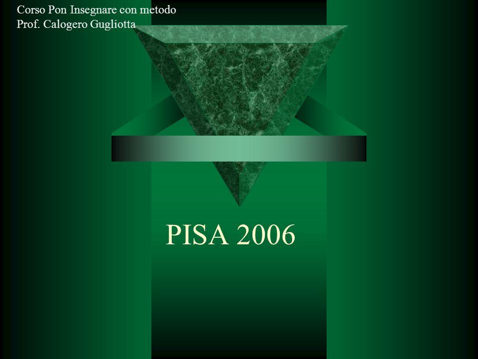 PISA 2006 Corso Pon Insegnare con metodo Prof. Calogero Gugliotta