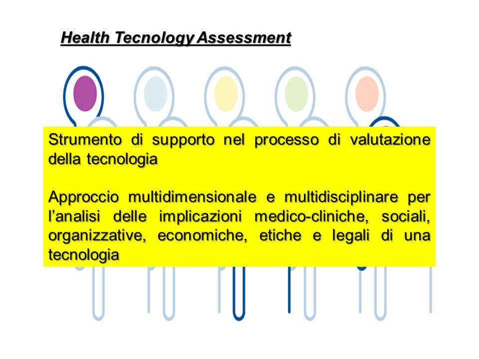 Health Tecnology Assessment Strumento di supporto nel processo di valutazione della tecnologia Approccio multidimensionale e multidisciplinare per lan