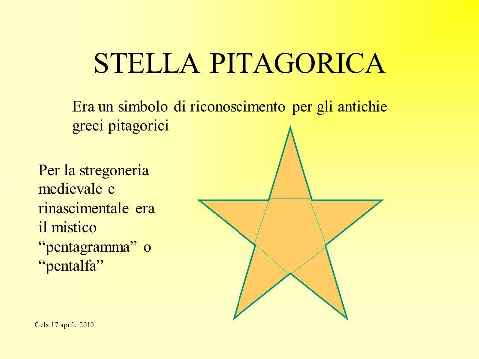 STELLA PITAGORICA Era un simbolo di riconoscimento per gli antichie greci pitagorici Per la stregoneria medievale e rinascimentale era il mistico pent