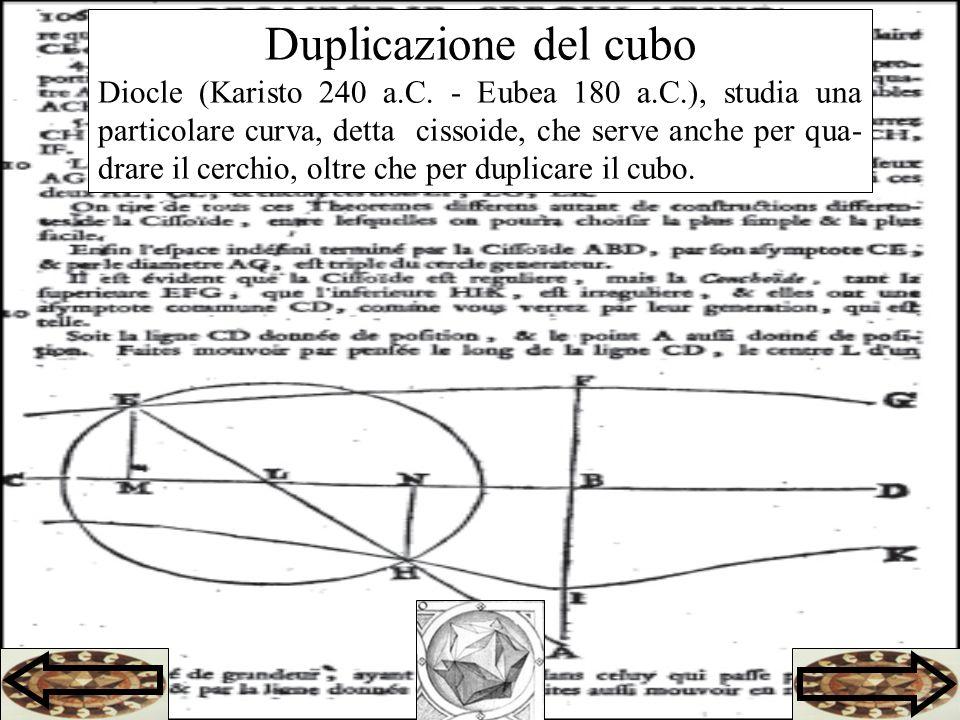 Duplicazione del cubo Diocle (Karisto 240 a.C.
