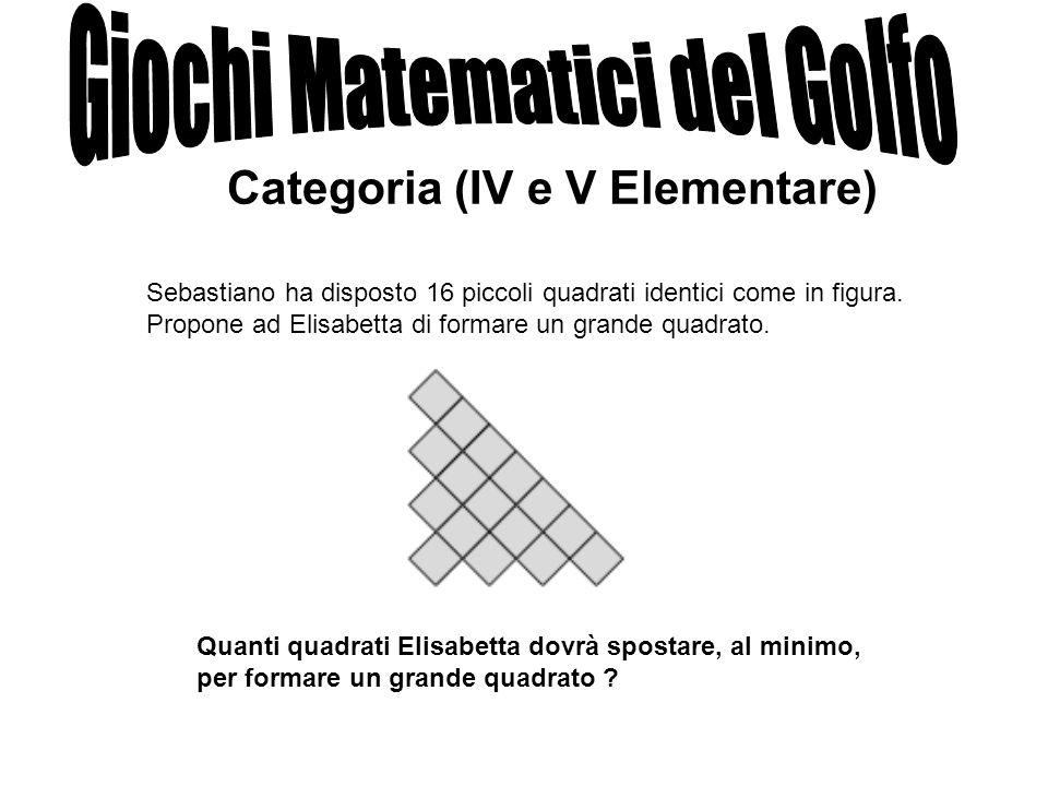 Sebastiano ha disposto 16 piccoli quadrati identici come in figura. Propone ad Elisabetta di formare un grande quadrato. Quanti quadrati Elisabetta do