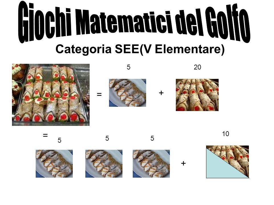 Categoria SEE(V Elementare) = + + = 520 5 55 10