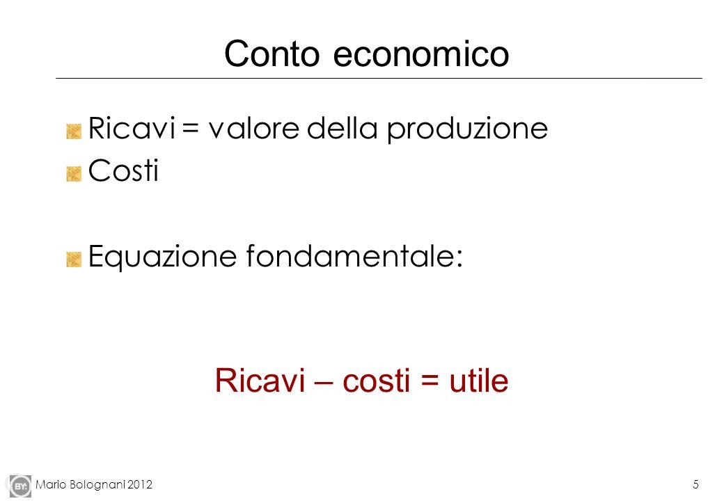 Mario Bolognani 201216 Altri indicatori di redditività ROS (Return on sales) = Risultato operativo (Ebit)/Ricavi da vendite, misura la redditività delle vendite ROE (Return on equity) = Utile netto / Mezzi propri (patrimonio netto = capitale netto = capitale sociale+riserve+utili- perdite ) ROI (Return on investment) = Risultato operativo (Ebit)/capitale investito (che include il denaro preso a prestito dalle banche) ROE e ROI misurano la redditività del capitale ROA (Return On Assets) = Utile netto / Totale attività dello stato patrimoniale ( crediti, impianti, partecipazioni azionarie, rimanenze, cassa…)