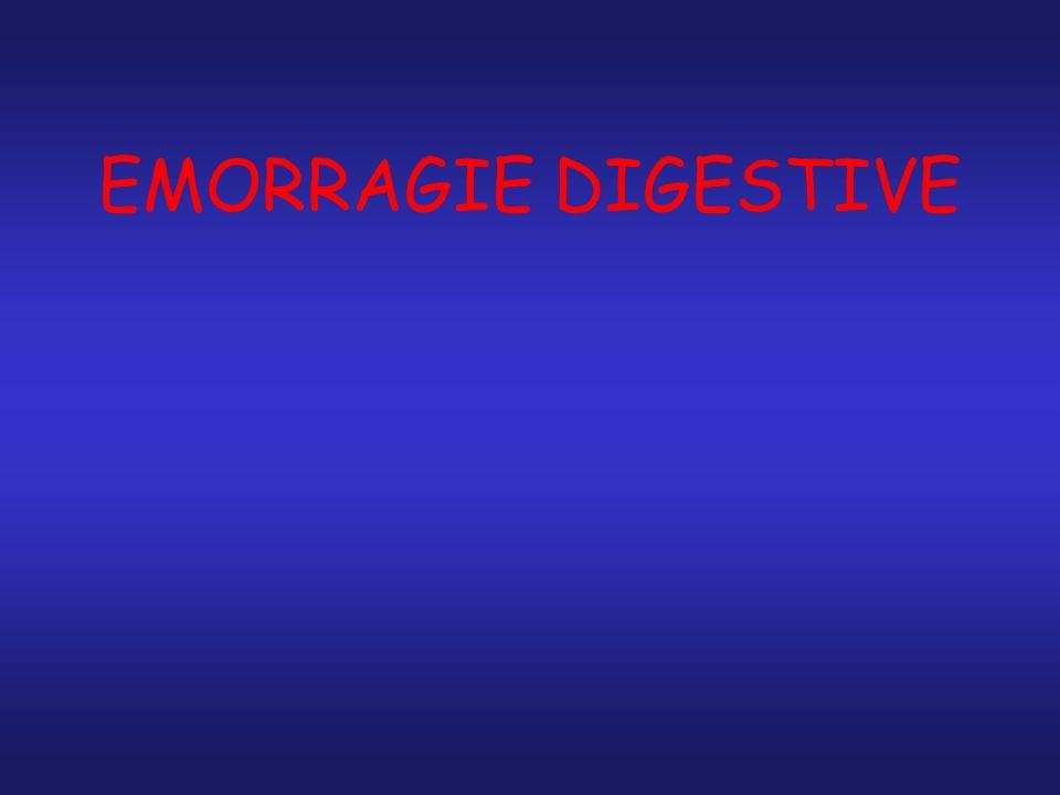Perdita di sangue che si origina all interno del tratto digerente Sanguinamento visibile: si manifesta come sangue rosso vivo o nerastro nel vomito e/o nelle feci.