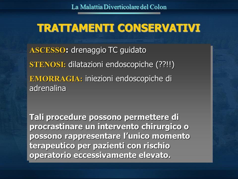 ASCESSO : drenaggio TC guidato STENOSI: dilatazioni endoscopiche (??!!) EMORRAGIA: iniezioni endoscopiche di adrenalina Tali procedure possono permett